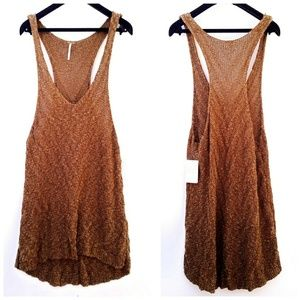 NWT Free People Brown Knit Sleeveless Top