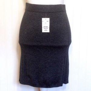 NWT H&M dark gray wool blend sweater skirt