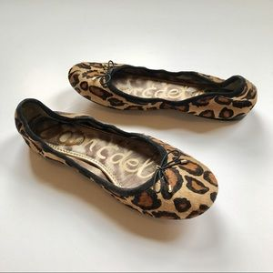 Sam Edelman Leopard Calf Hair Flats