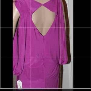 Jessica Simpson Fuchsia Cut Out Back Dress