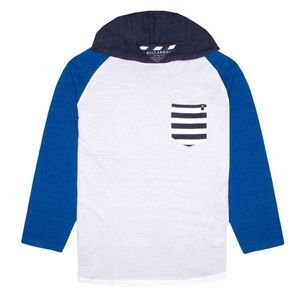 🆕Billabong White Switch Up Pullover Hoodie