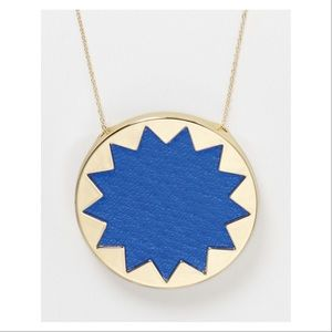 House Of Harlow Blue Starburst Large Pendant