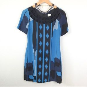 Tracy Reese Silk Embellished Shift Dress