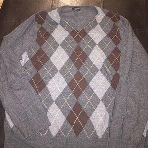 Banana Republic Argyle V-neck sweater