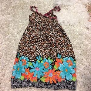 👛Youngland  girls dress animal print w/flowers