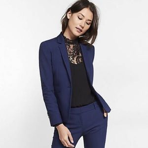 Express one button deep blue blazer