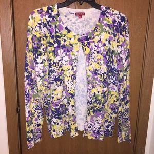 Merona floral cardigan