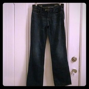 J. Crew womens 27S dark wash boy jean