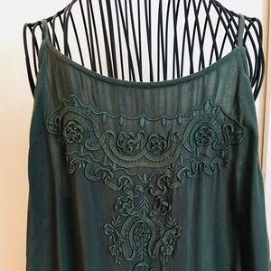 Beautiful boho long green dress