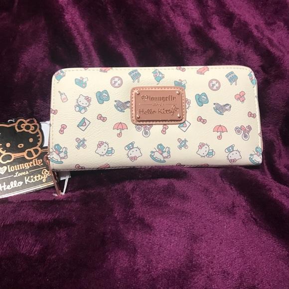 39751c9bf Hello Kitty Bags | Loungefly Pastel Print Zip Wallet | Poshmark