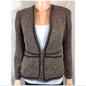 Coldwater Creek Brown Tweed Blazer