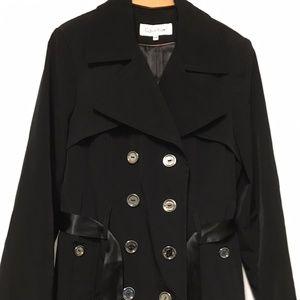 Calvin Klein Trench Coat NEVER WORN - Black size M