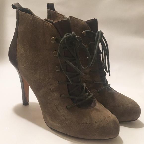 0beda061e67 ANTONIO MELANI Shoes - Olive green suede heels