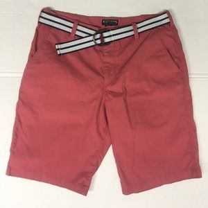 Express - Red/Salmon Shorts with Belt 32 NEW
