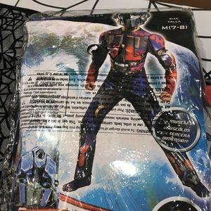New Optimus Prime Transformers Costume Size 7/8