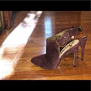 Sam Edelman Size 6 Burgundy Bottie High Heel Gold