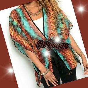 Trendy Kimono w/ Flutter Sleeves