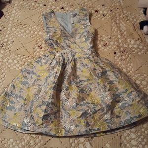 Asos Petite Brocade Pastel Dress