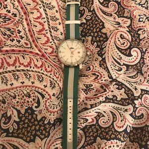 Lacoste green white silver men's watch