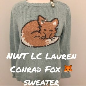 🆕 NWT LC Lauren Conrad Fox 🦊 sweater