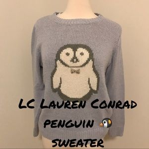 🆕 LC Lauren Conrad penguin 🐧 sweater
