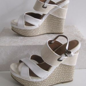 Mia Espadrille Ankle Strap Woven Wedge Sandals