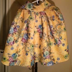 ASOS yellow flowers print full skirt
