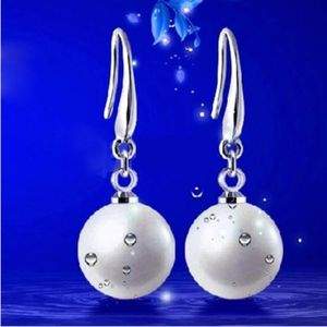 Jewelry - Sterling Silver White Pearl Dangle Earrings