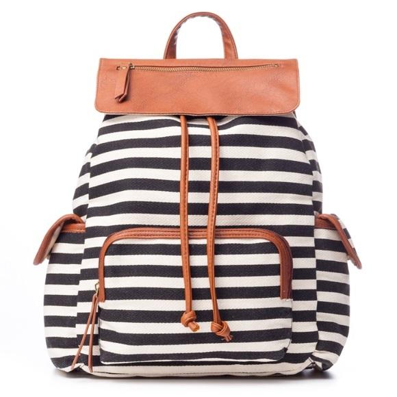 Madden Girl Trendz Striped Canvas Backpack. M 59e4895ebcd4a75cad0b3d60 e3c8256cd802e