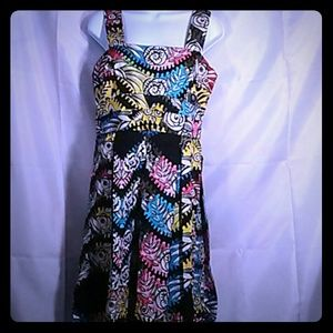 Donna Morgan floral colorful print dress size 8