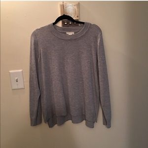 H&M heather gray zip side sweater