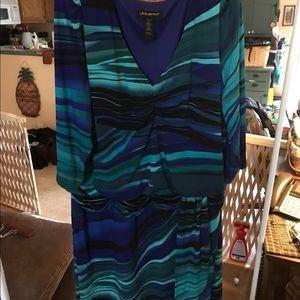 3/4 length sleeve midi dress