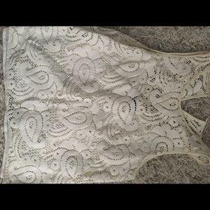 Nanette Lapore cream lace top