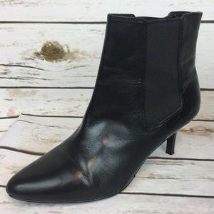 Lauren Ralph Lauren Black Chelsea Boot Heels Shoes