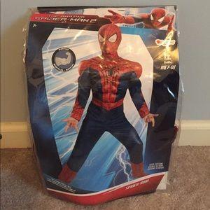 Other - Unused in bag Spider Man costume kids M (7-8)