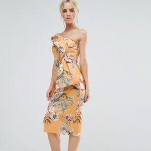 GORGEOUS Brand New Floral Bow Scuba Midi Dress ✨