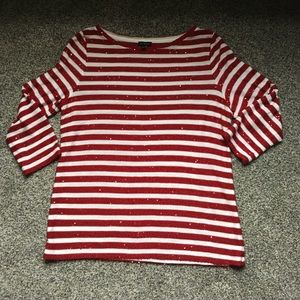 Talbots Size Large Striped Holiday Sweater