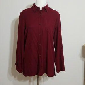Ralph Lauren 100%Silk Button Down Shirt size 8