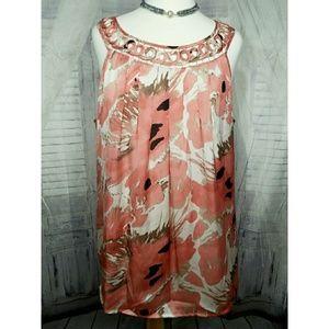 Dress Barn pretty accent sleeveless blouse XL