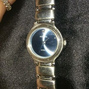 """Fossil Blue Line with Crystal 7"""" steel"""