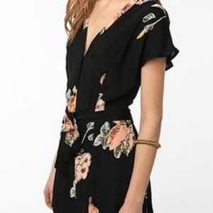 UO Staring at Stars Crepe Open Back Romper