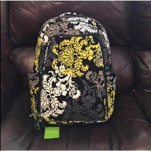 NWT Vera Bradley baroque laptop backpack