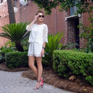 b43db6c91728 Muse Shorts - Brand New with Tickets   Muse white lace romper