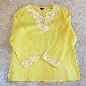 Yellow women's linen tunic