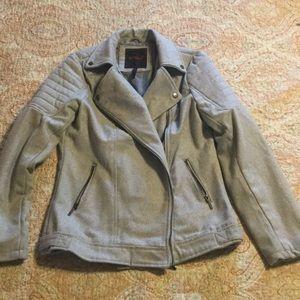 YOKI heather gray zip moto jacket, juniors Large