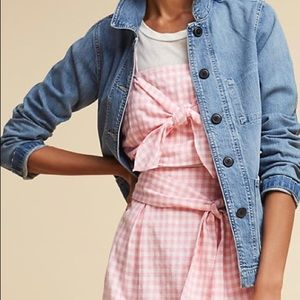 NWT Anthropologie J.O.A. Tie-Front Gingham Tank M