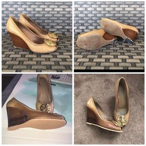Re-Posh. Reconstructed Tory Burch Wedges