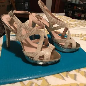 White and Gold Heels