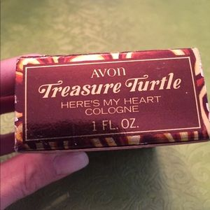 Avon treasure turtle here's my heart cologne