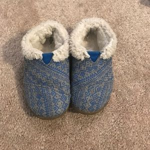 Toms baby slippers